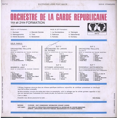 orchestre de la garde republicaine 1ere et 2eme formation