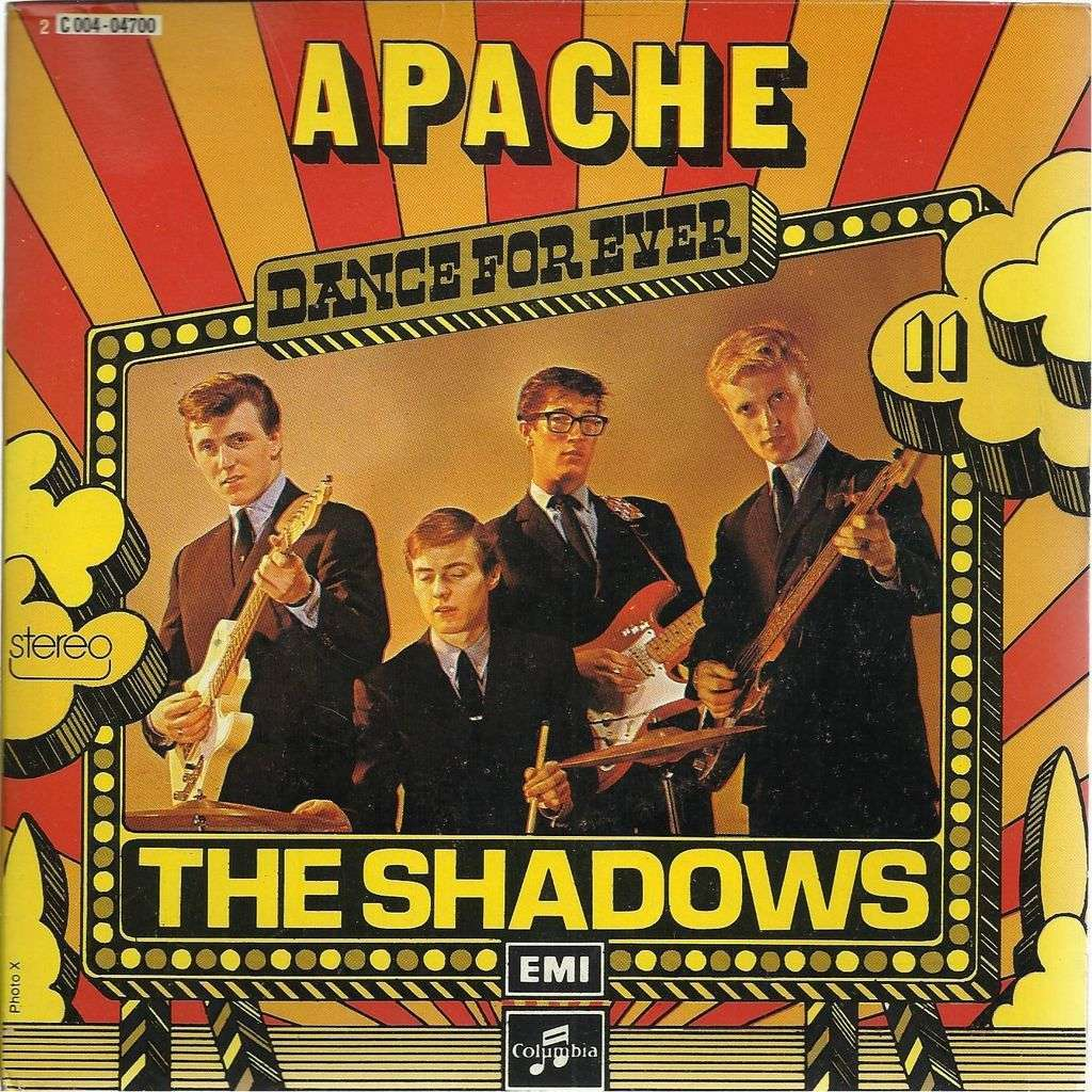 Apache By The Shadows 7inch Sp X 2 With Gerard81990