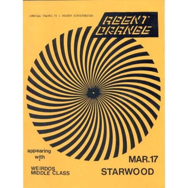 agent orange weirdos middle class starwood mar 17 usa 80s original promo
