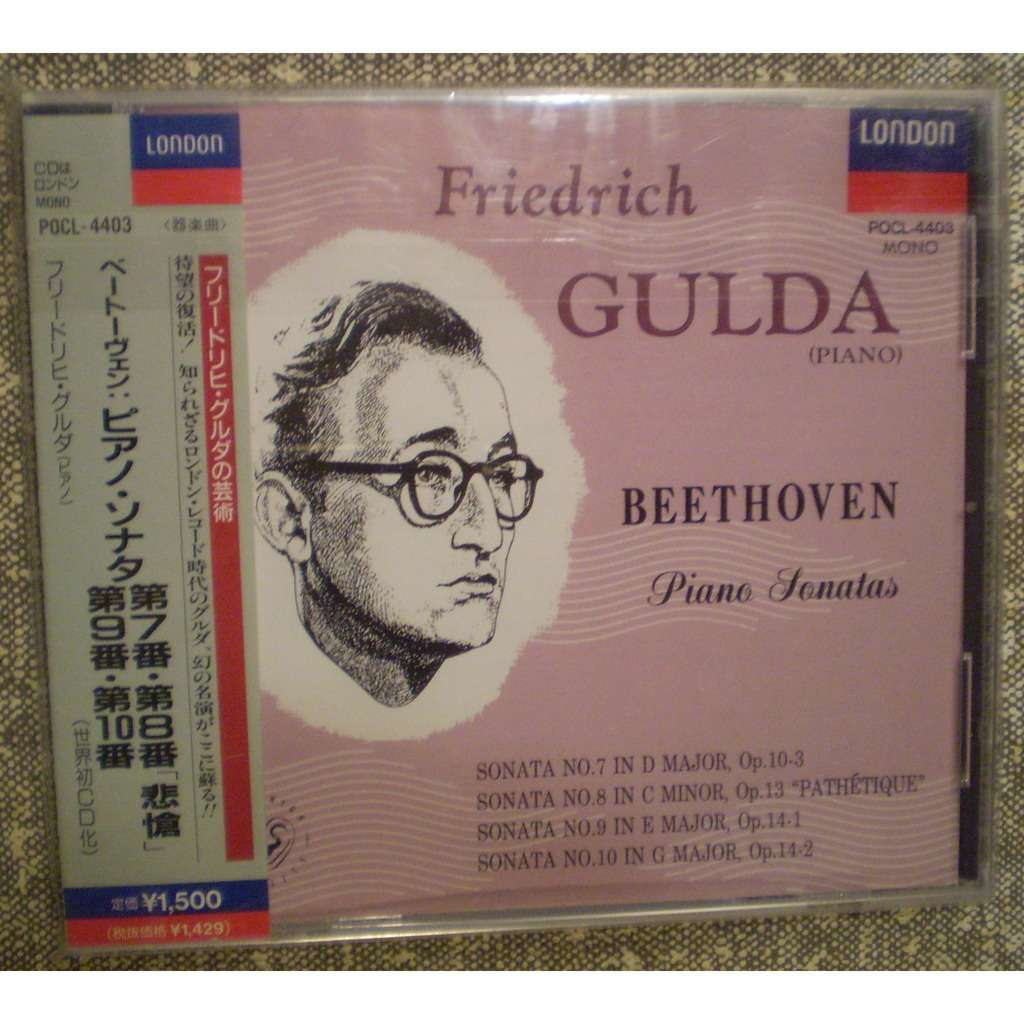 Friedrich GULDA BEETHOVEN, Piano sonates N° 7, 8, 9, 10