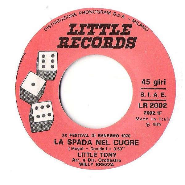 La Spada Nel Cuore Lei By Little Tony Sp With Onairam Ref 118531760