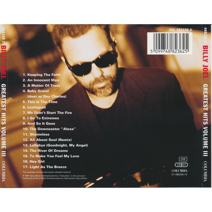 Greatest Hits Vols 1 2 Billy Joel: Greatest Hits Volume Iii By Billy Joel, CD With Burtech