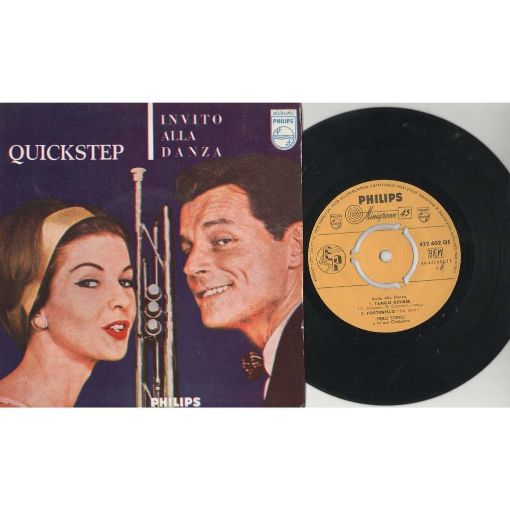 Piero Soffici E La Sua Orchestra Tango Triste (Italian 50s original 4-trk 7ep on Philips lbl laminated flipback ps)