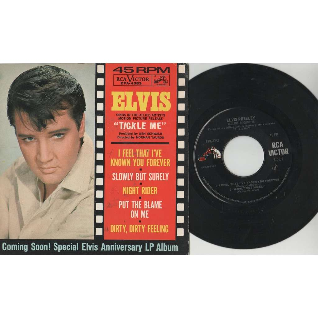 Elvis Presley Tickle Me (USA 1965 original 5-trk 7ep on RCA-Victor lbl unique ps-NEAR MINT copy!!)