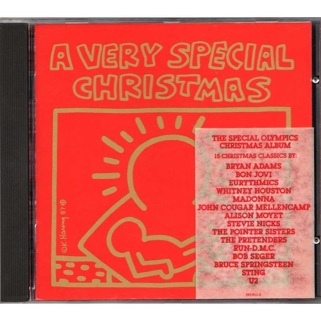 Bruce Springsteen A very special christmas (German 1987 original 15-trk v/a CD album stickered ps)