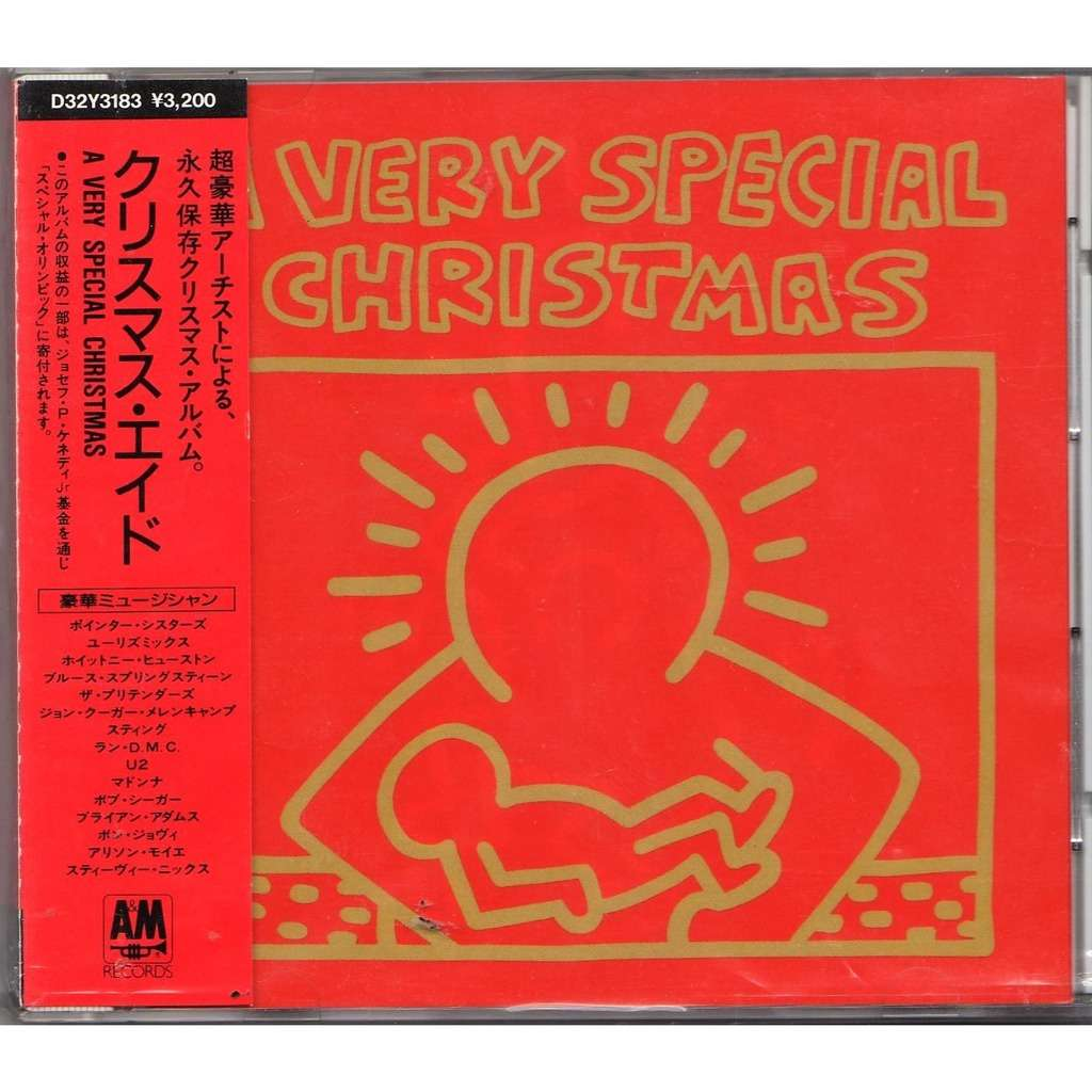 Eurythmics / Whitney Houston / Pretenders A very special christmas (Japan 1987 2nd issue 15-trk v/a CD album full ps & obi)
