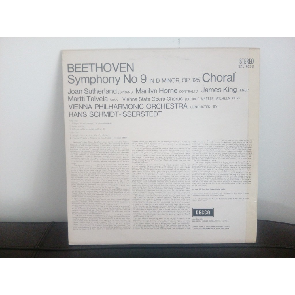 Joan Sutherland, Marilyn Horne, James King Beethoven: Symphony No 9 'Choral'