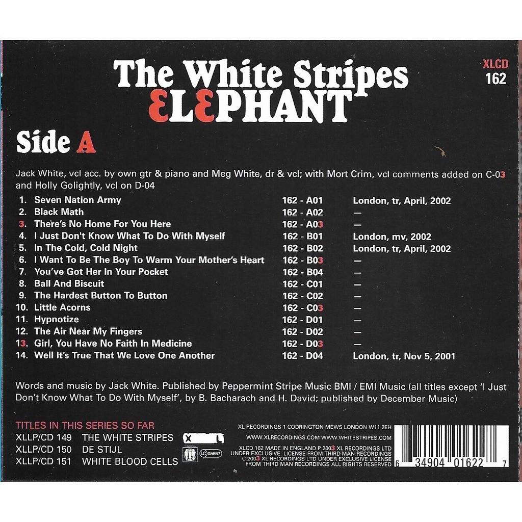 elephant the white stripes cd ���� libertemusic