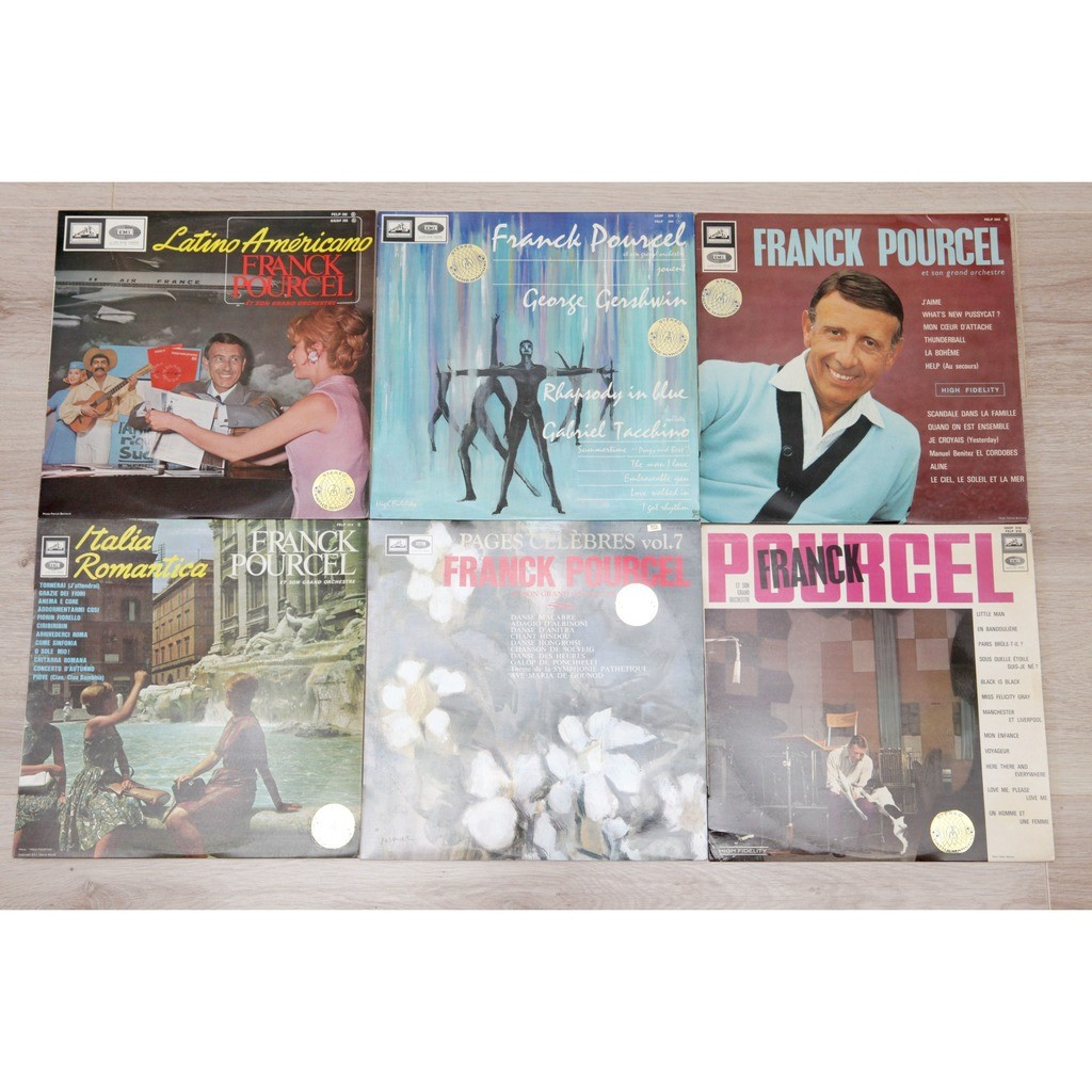 FRANCK POURCEL - HUGE JOB LOT various - 24 lps + 3 double lps + 1 box - ask for more pictures