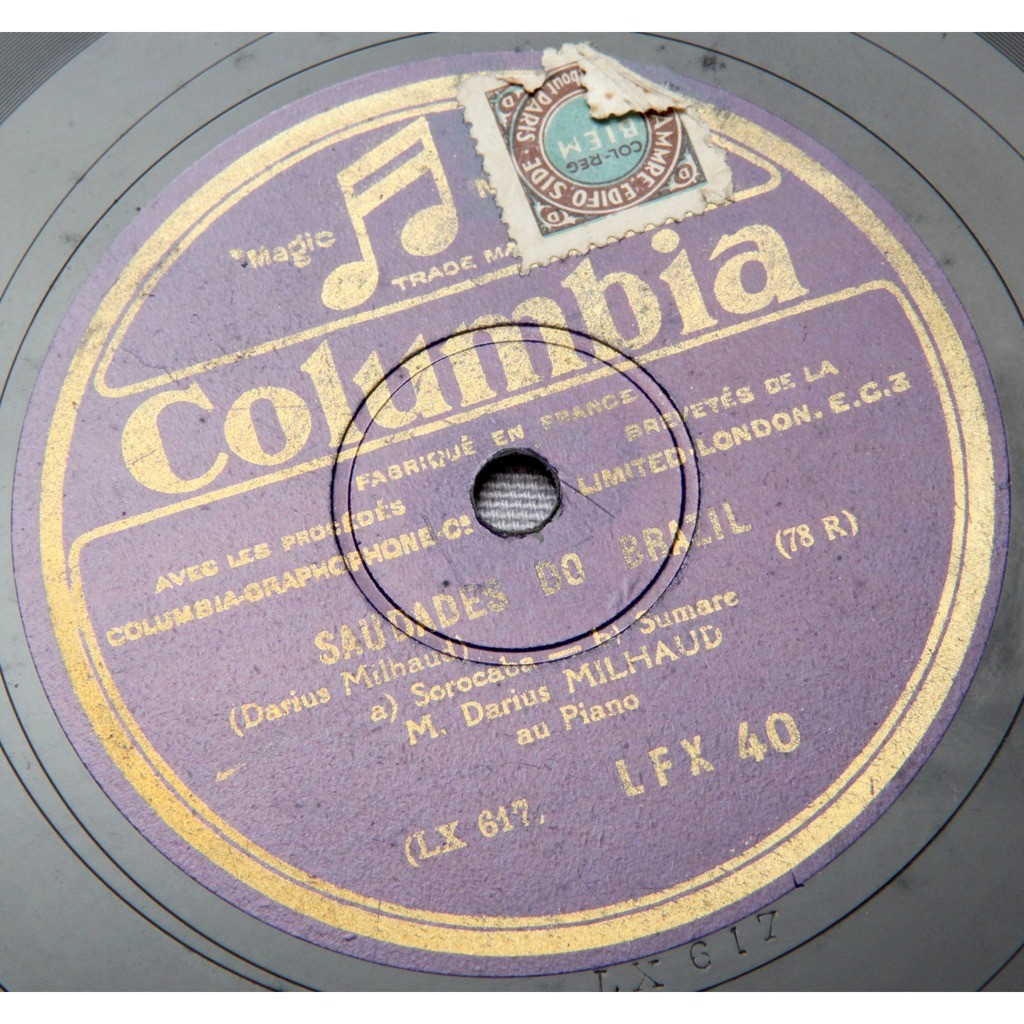Saudades do brazil - by Darius Milhaud, 78rpm with dynamic-records