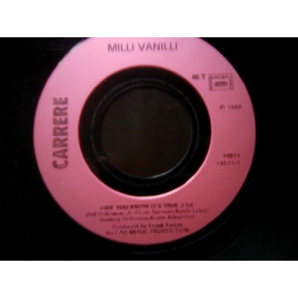 Milli Vanilli - Girl You Know It's True Milli Vanilli - Girl You Know It's True