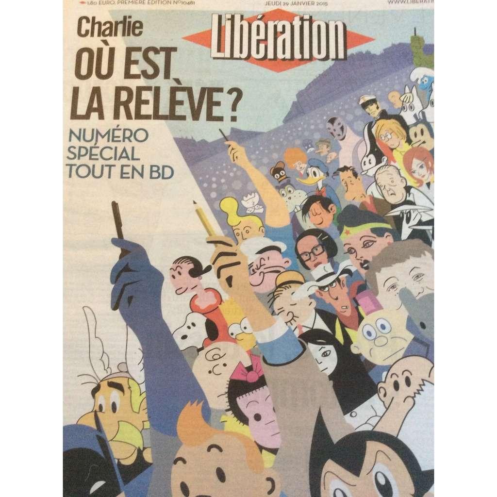 Libération Libération N° 10481 Du 29/01/2015 : Charlie, Où Est La Relève, Numéro Spécial Tout En B.D.