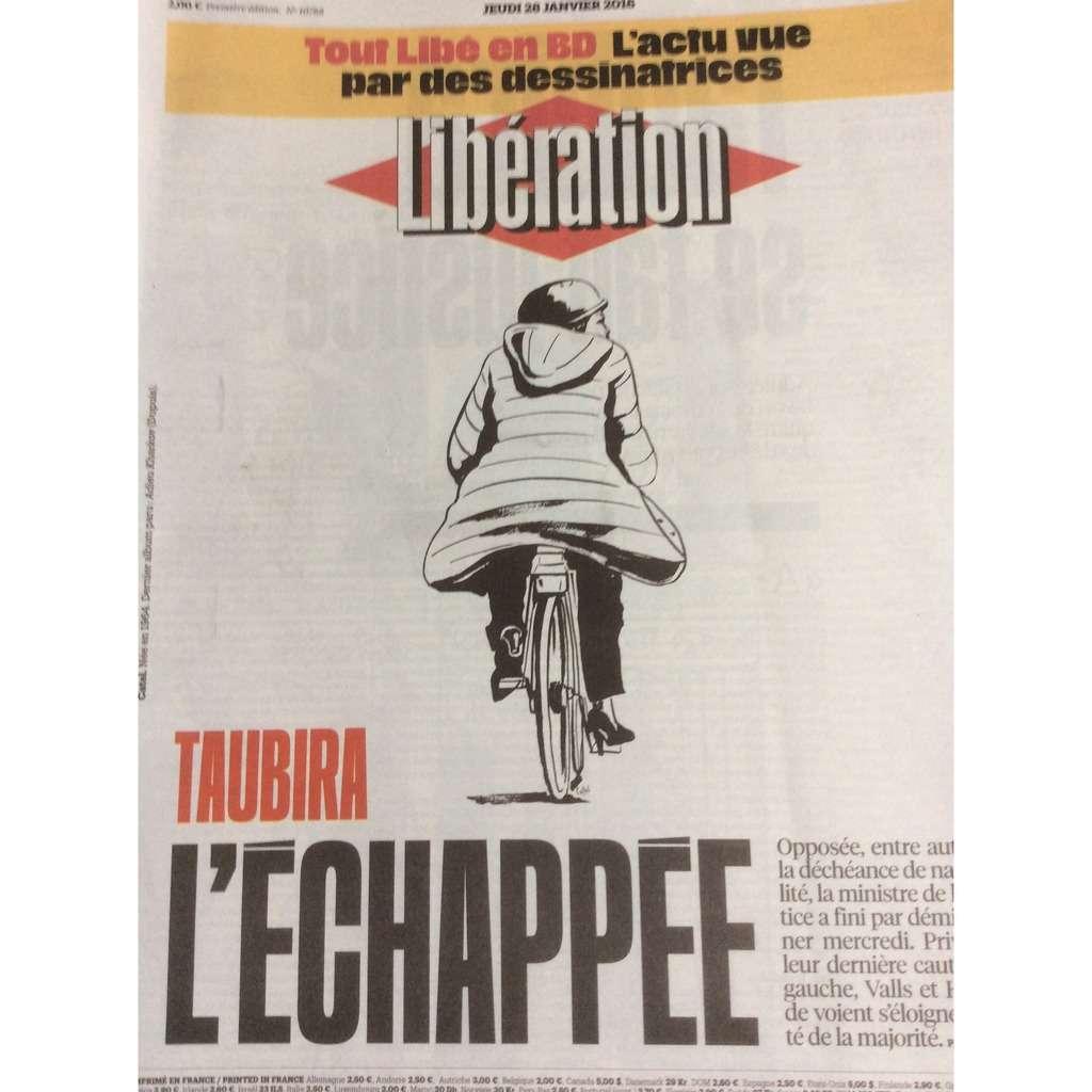 Libération Libération Du 28/01/16 : Tout Libé En B.D. / Taubira, L' Échappée