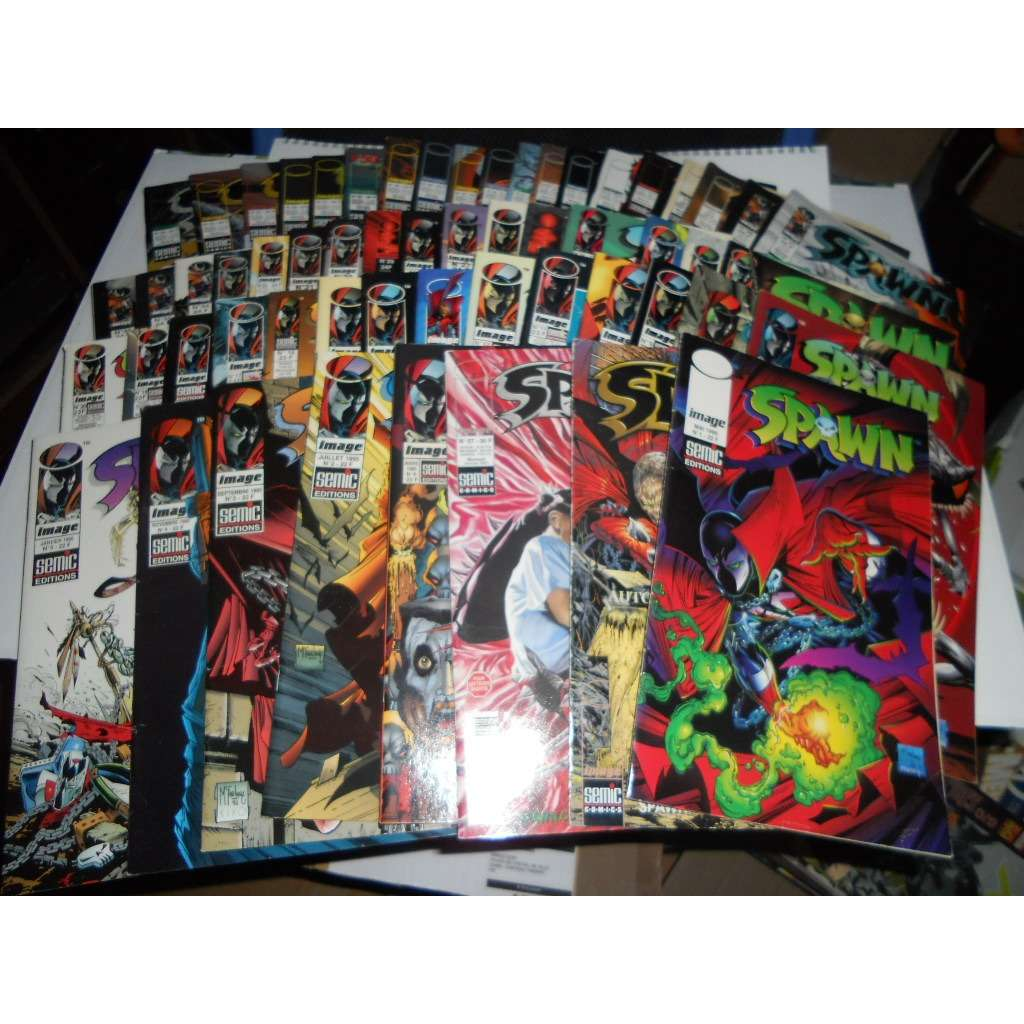Spawn Semic Lot De 56 Bd Du N° 1 Au N° 57+Sont Sup Spawn Semic Lot De 56 Bd Du N° 1 Au N° 57+Sont Supplement