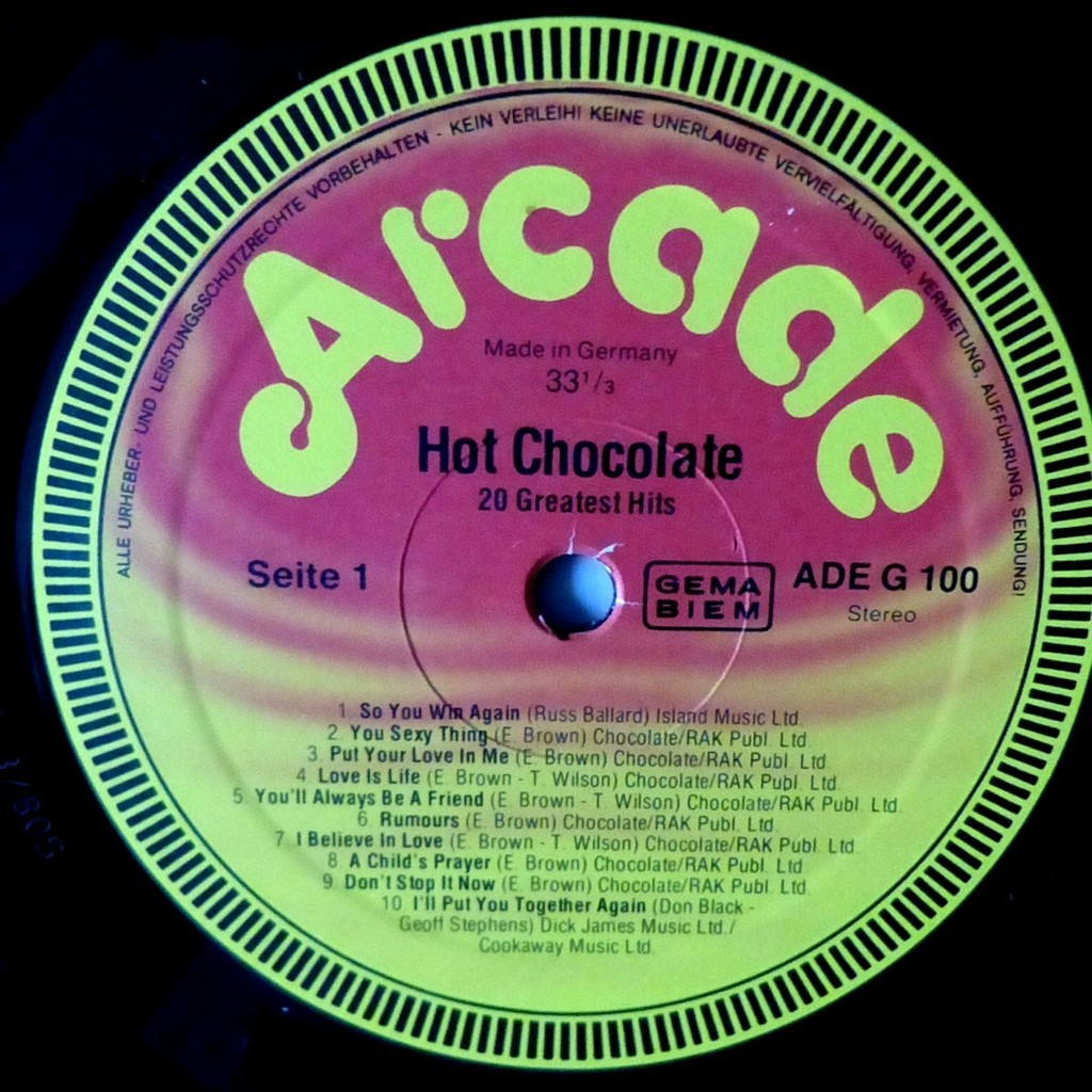 HOT CHOCOLATE 20 greatest hits