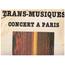 VARIOUS - TRANS-MUSIQUES CONCERT A PARIS - LP