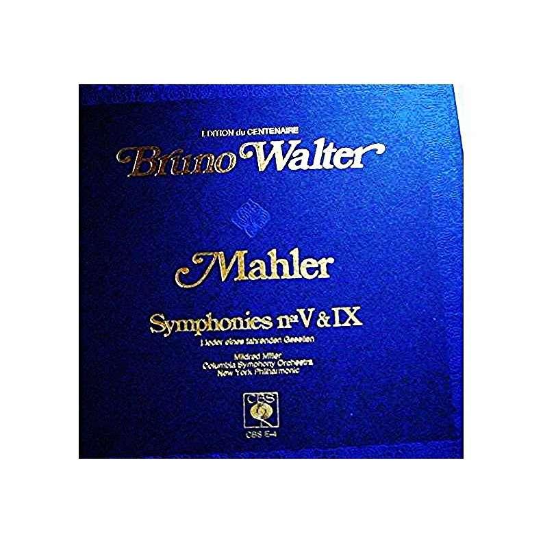 MAHLER SYMPHONIES 5 et 9 LIEDER eines fahrendenGesellen BRUNO WALTER MILFRED MILLER NYP/CSO