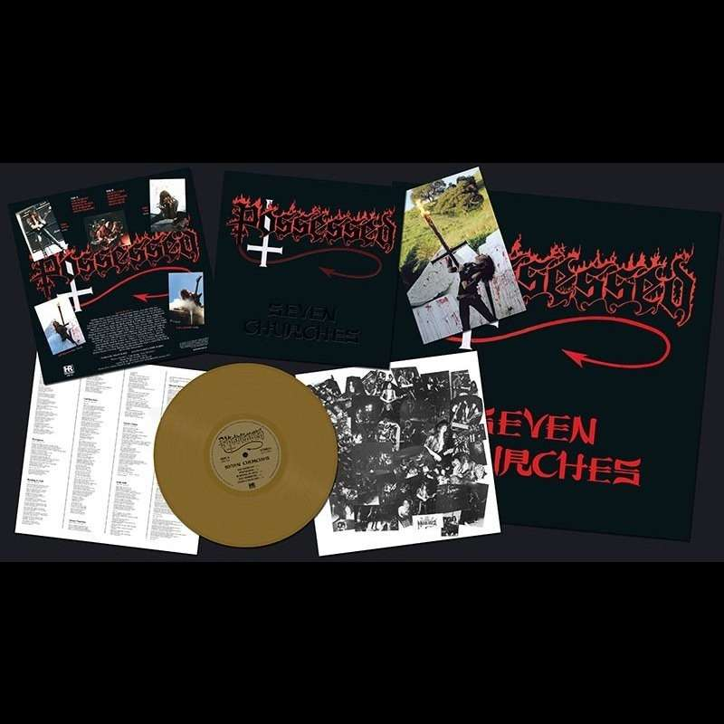 POSSESSED Seven Churches. Gold Vinyl