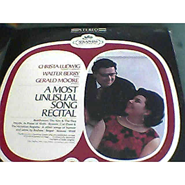CHRISTA LUDWIG W. BERRY G. MOORE 1 MOST UNUSUAL SONG RECITAL BEETHOVEN HAYDN REGER BRAHMS ROSSINI