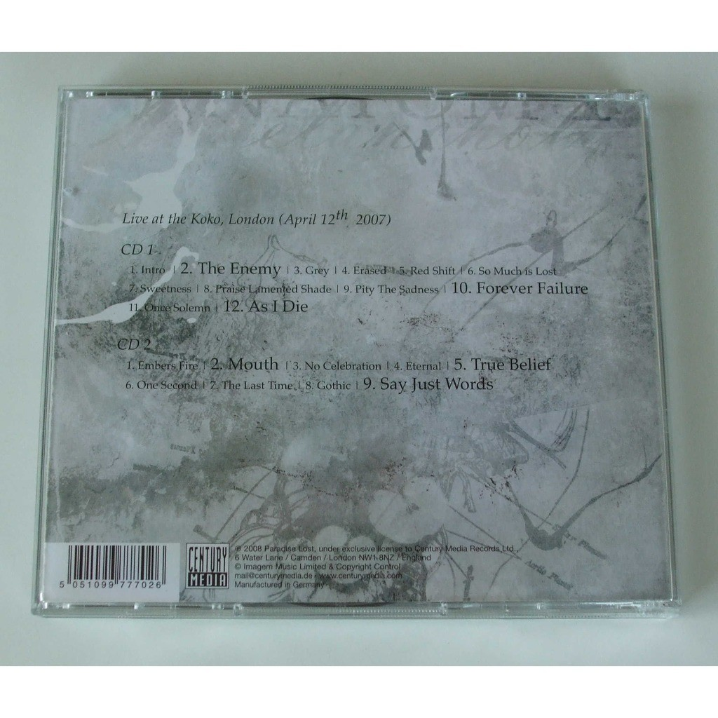 Paradise Lost By Anatomy Of Melancholy Cd X 2 With Dom88 Ref