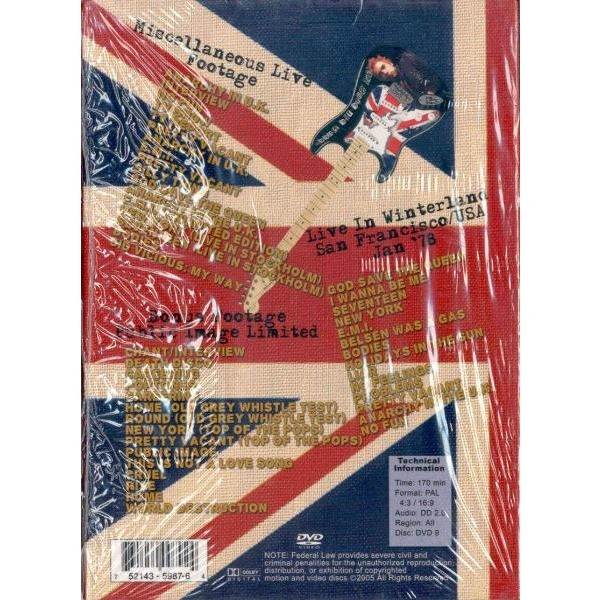 God save the sex pistols (miscellaneous live footage & winterland  s francisco jan 78 etc ) by Sex Pistols, DVD with gmvrecords