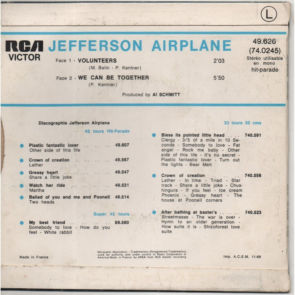Volunteers by Jefferson Airplane, SP with scubt01