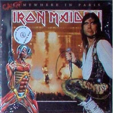 iron maiden Somewhere In Paris (palais Omnisports De Bercy FR 29.11.1986) (white wax-SEALED COPY!!)