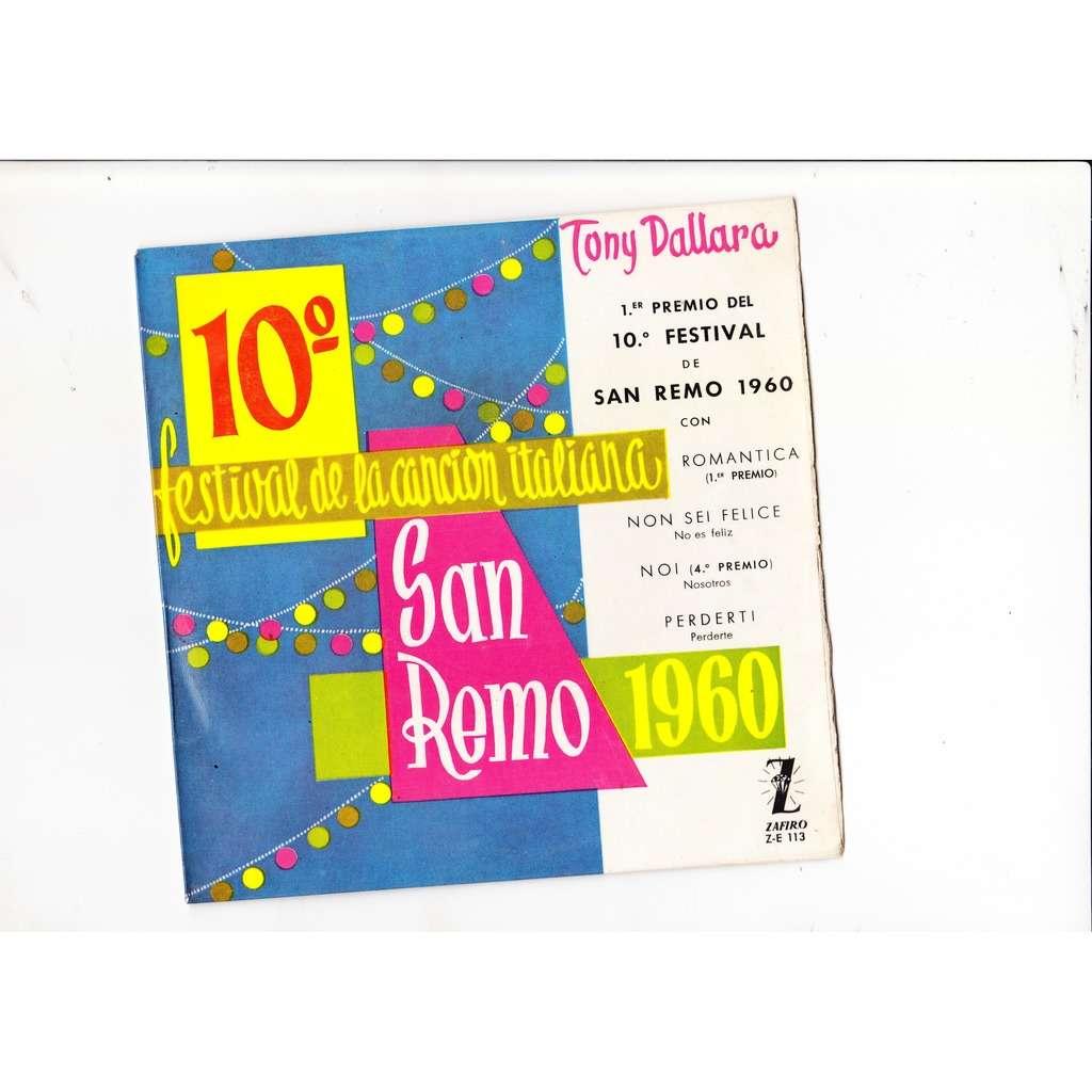 Tony Dallara 10o Festival de Sanremo 1960 romantica+3