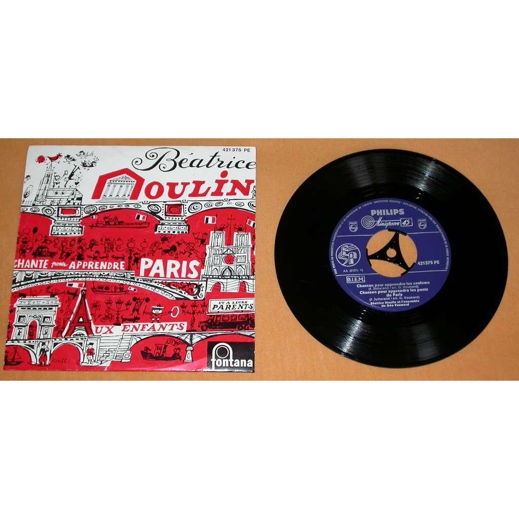 BEATRICE MOULIN chante pour apprendre Paris