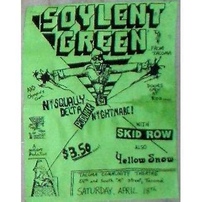 Nirvana Skid Row Community World Theater Tacoma WA 180487 USA 1987 Promo