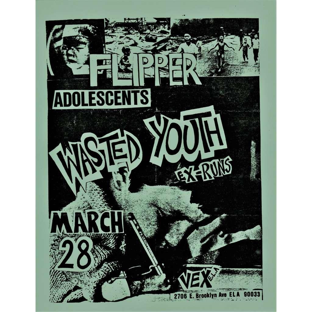 vex la march 28 usa 80s promo poster concert punk flyer flipper