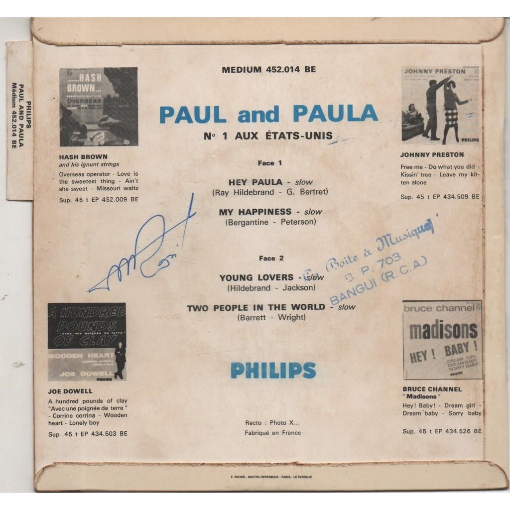 PAUL & PAULA Hey Paula