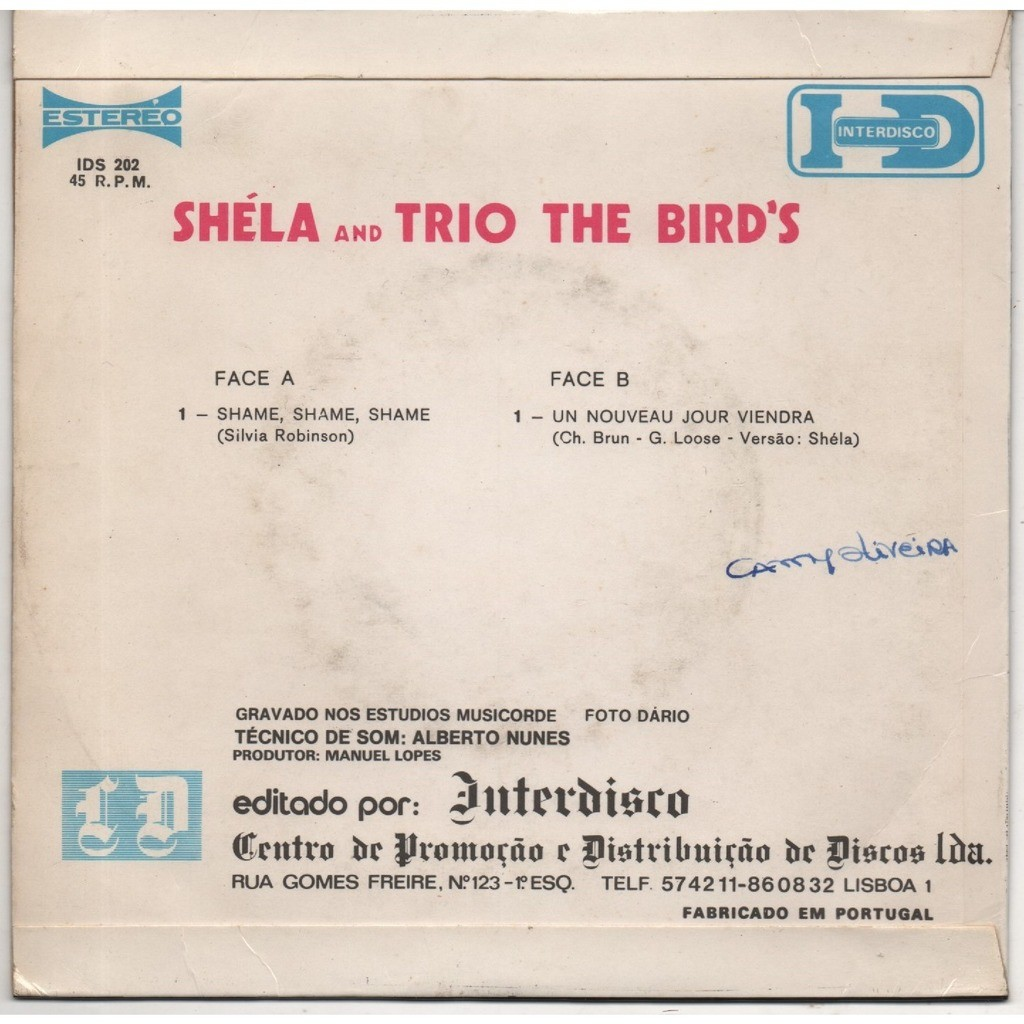 shela and trio the bird's shame shame shame