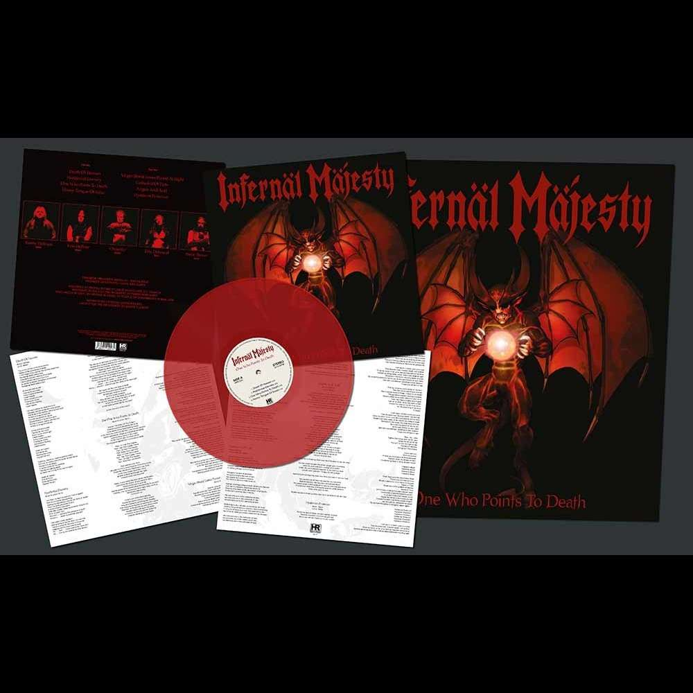 INFERNAL MAJESTY One Who Points to Death. Red Vinyl