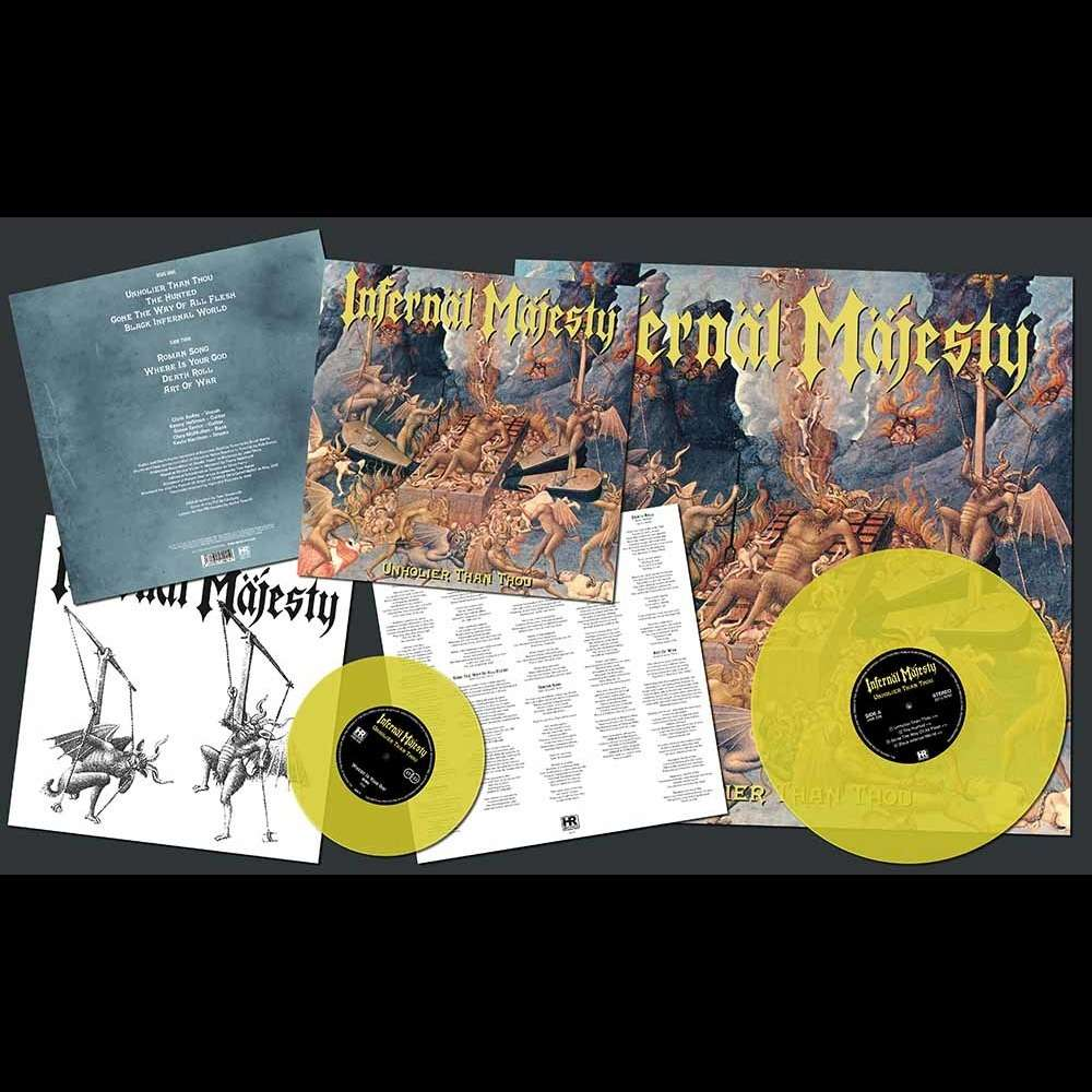 INFERNAL MAJESTY Unholier than Thou. Yellow Vinyl