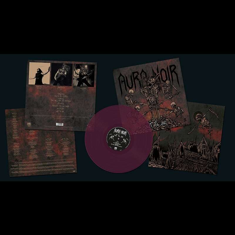 AURA NOIR Out to Die. Purple Vinyl