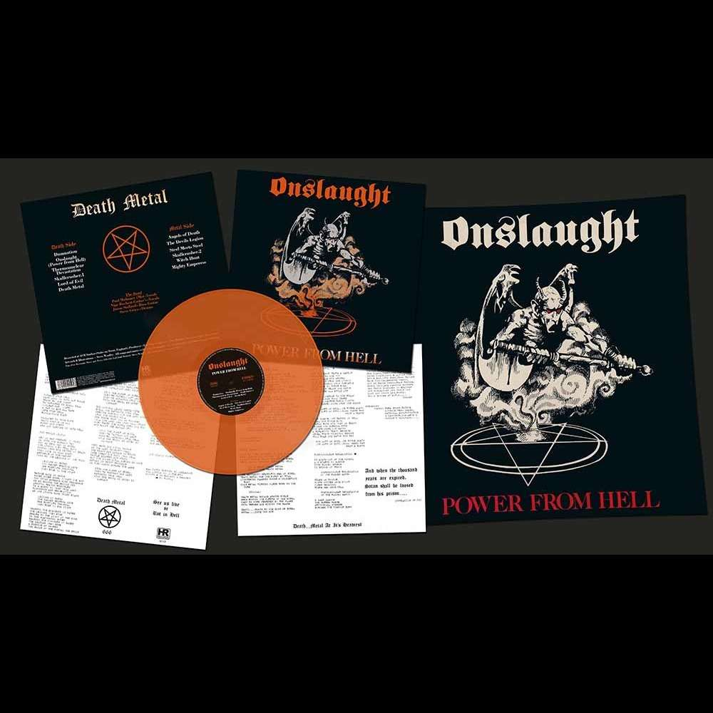 ONSLAUGHT Power From Hell. Orange Vinyl