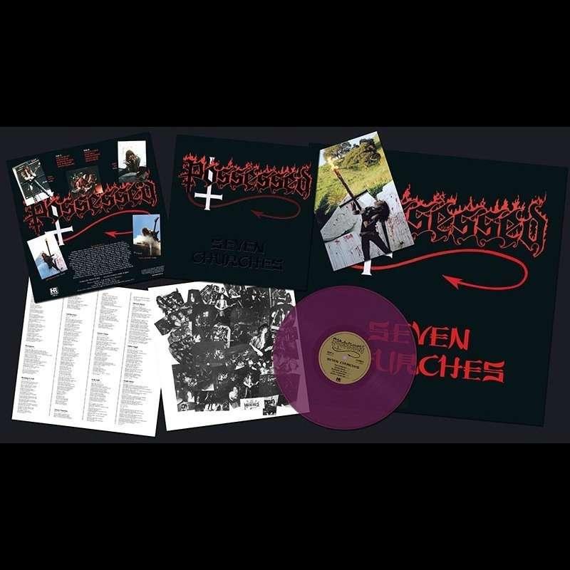 POSSESSED Seven Churches. Purple Vinyl