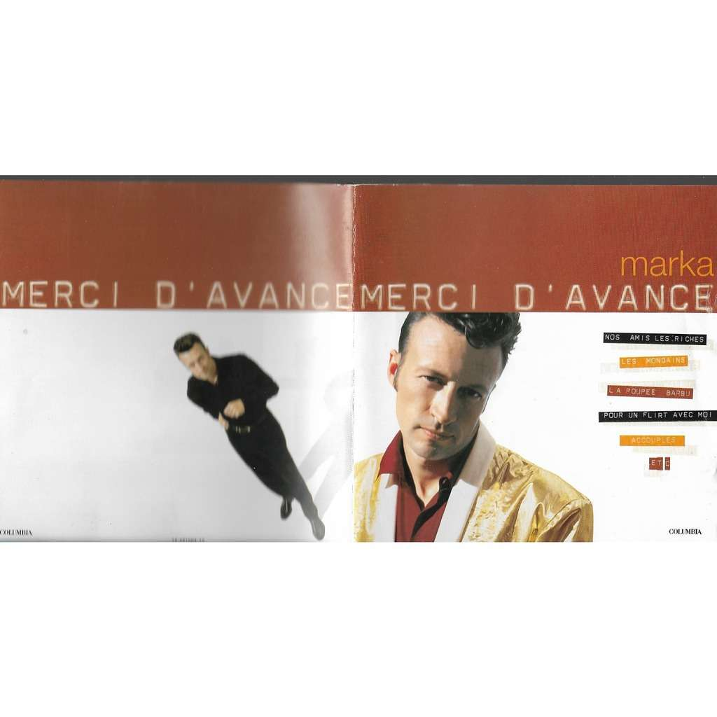 Merci d\'avance by Marka, CD with libertemusic - Ref:118604048