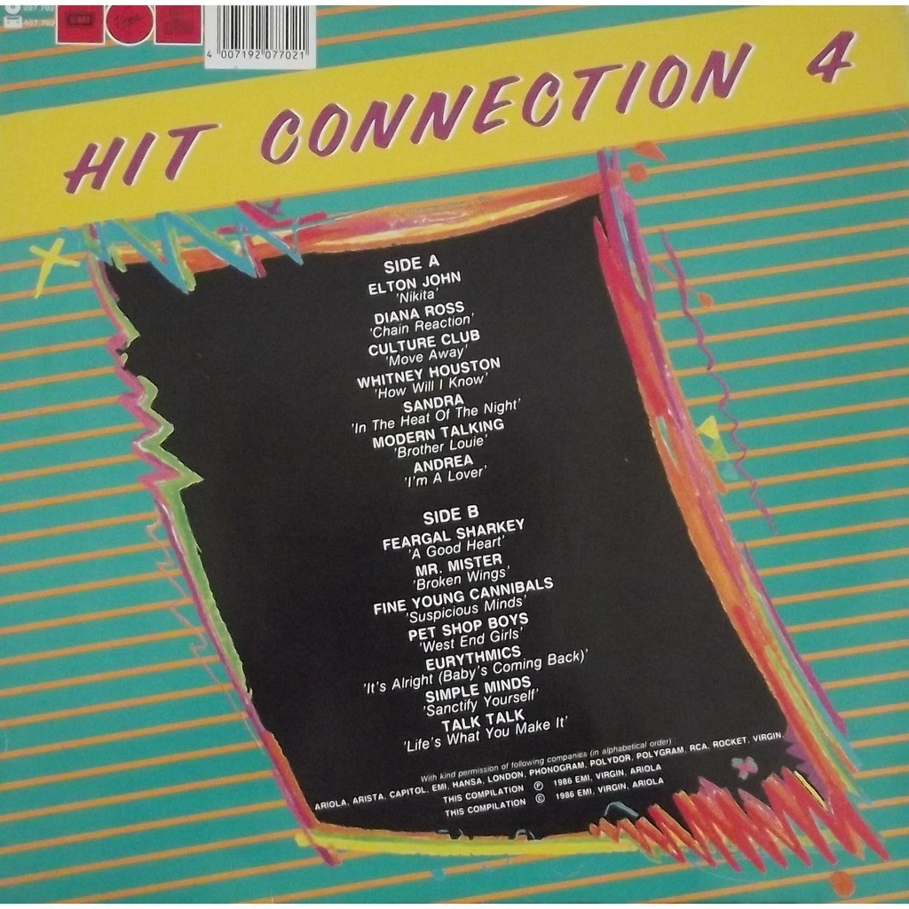 Modern talking, Fyc, talk talk, pet shop boys.... hit connection 4