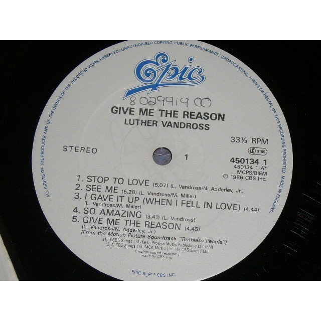 LUTHER VANDROSS Give Me The Reason