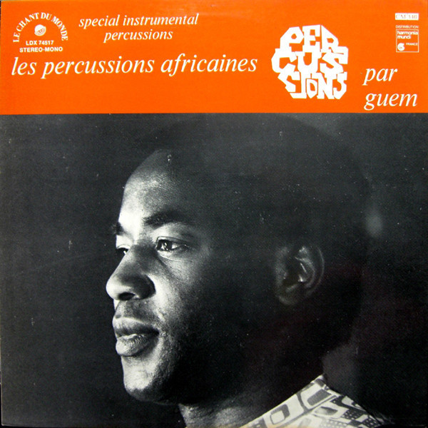 GUEM Les Percussions Africaines - special instrumental percussions (lp + free cd copy)