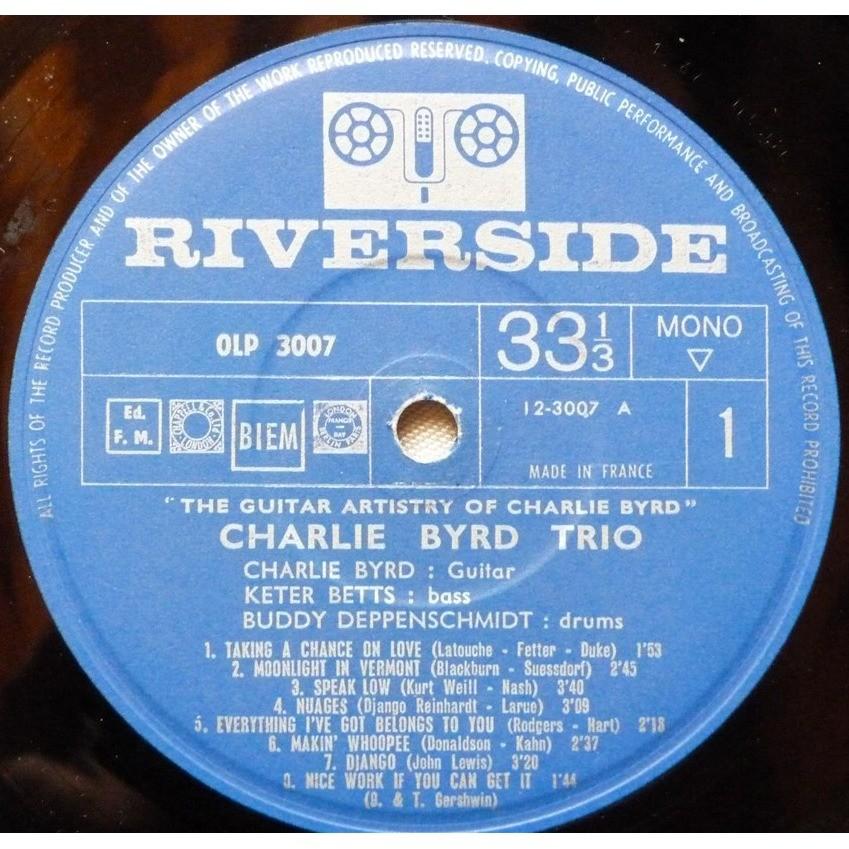 CHARLE BYRD TRIO THE GUITAR ARTISTRY OF CHARLIE BYRD