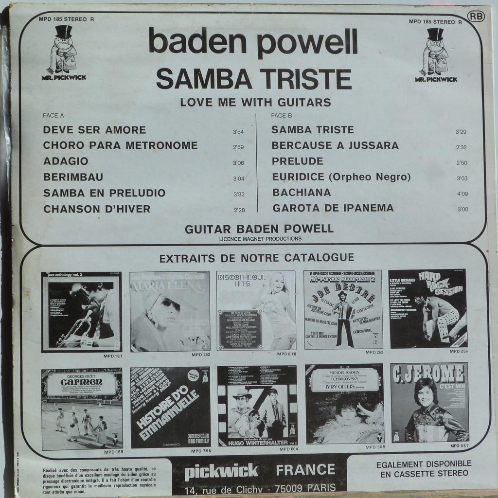 BADEN POWELL SAMBA TRISTE