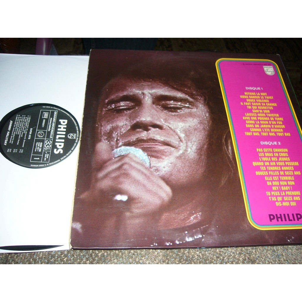 johnny hallyday super hits Johnny Hallyday '' retiens la nuit'' pressage france album double