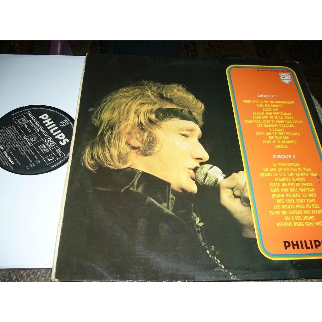 johnny hallyday super hits Johnny Hallyday '' le penitencier'' pressage france album double