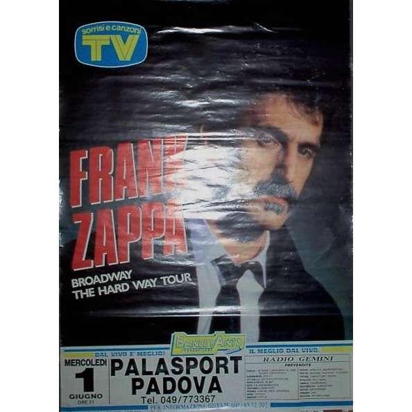 Frank ZAPPA Padova Palasport 01.06.1988 (Italian 1988 original large promo concert poster)