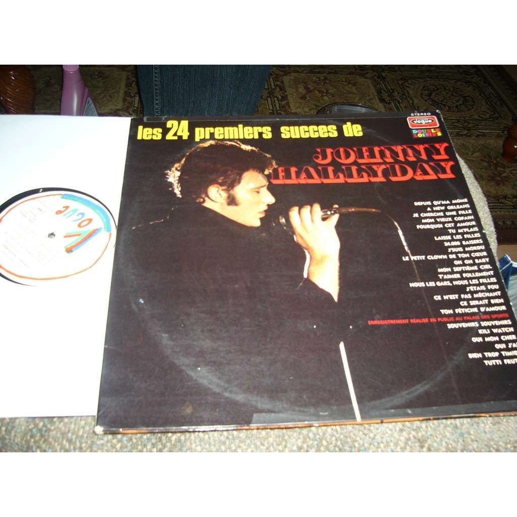 johnny hallyday les 24 premier succès de Johnny Hallyday pressage france album double