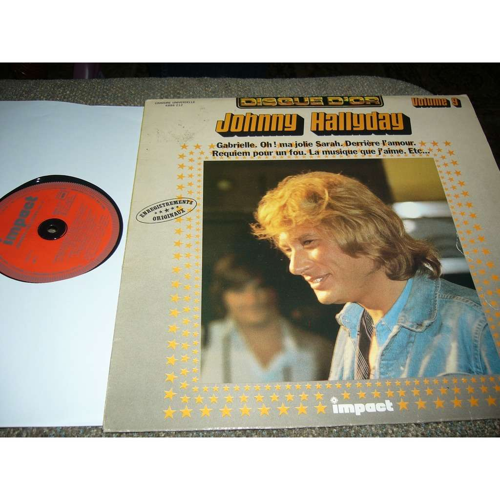 johnny hallyday disque d'or volume 9 pressage france