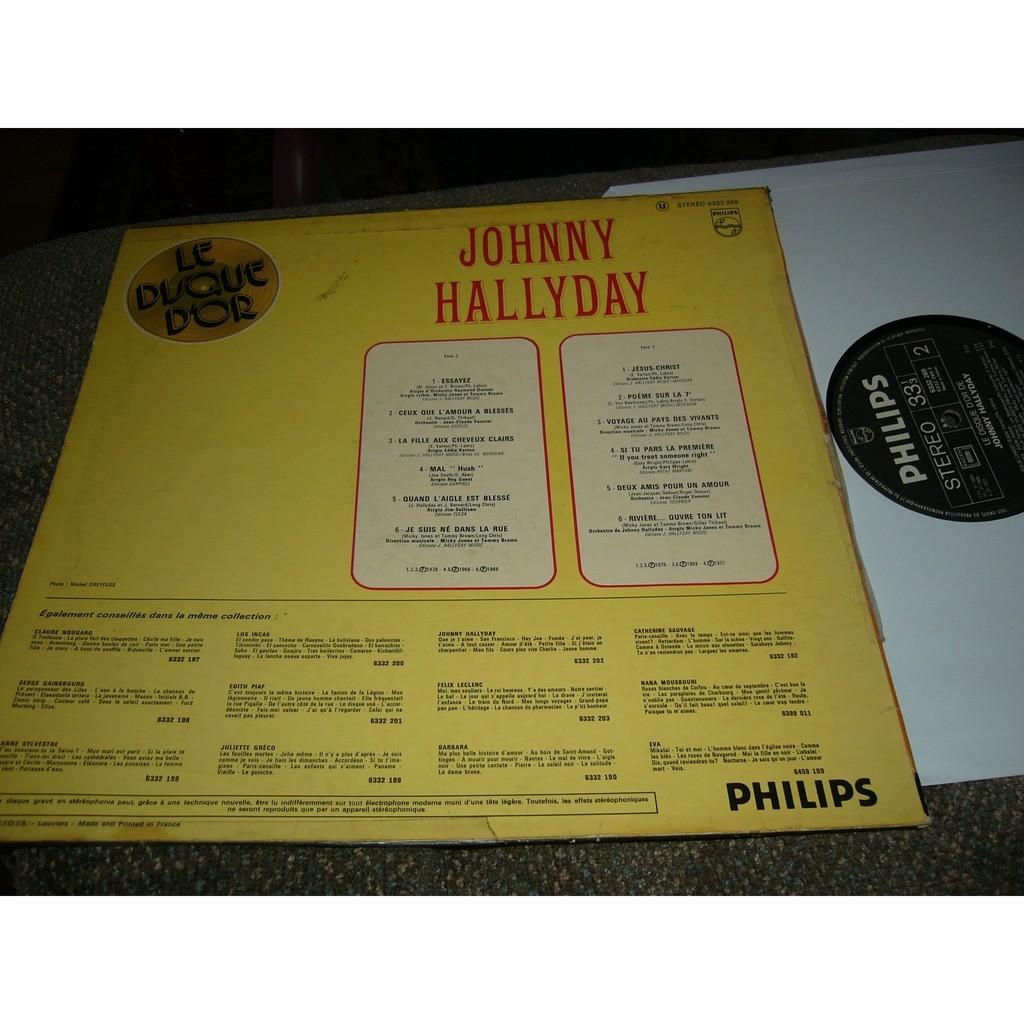 johnny hallyday Johnny Hallyday le disque d'or pressage france